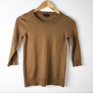 J. Crew Brown Tippi Crew Sweater